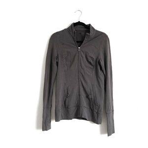 Alo Yoga Zip Up Jacket Grey Size Large